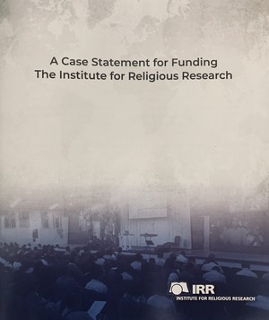 IRR Ministry Vision Case Statement