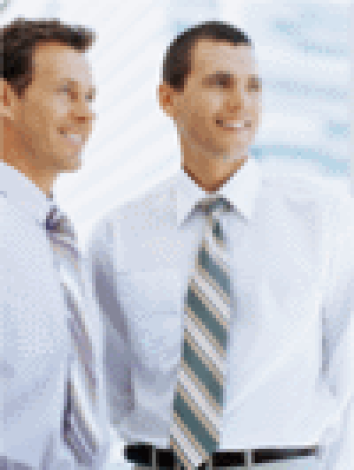 Two Men In Shirts And Ties