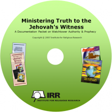 Ministering Truth to the Jehovah's Witness Resource CD