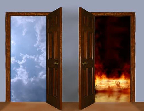 Two doors, Heaven and Hell
